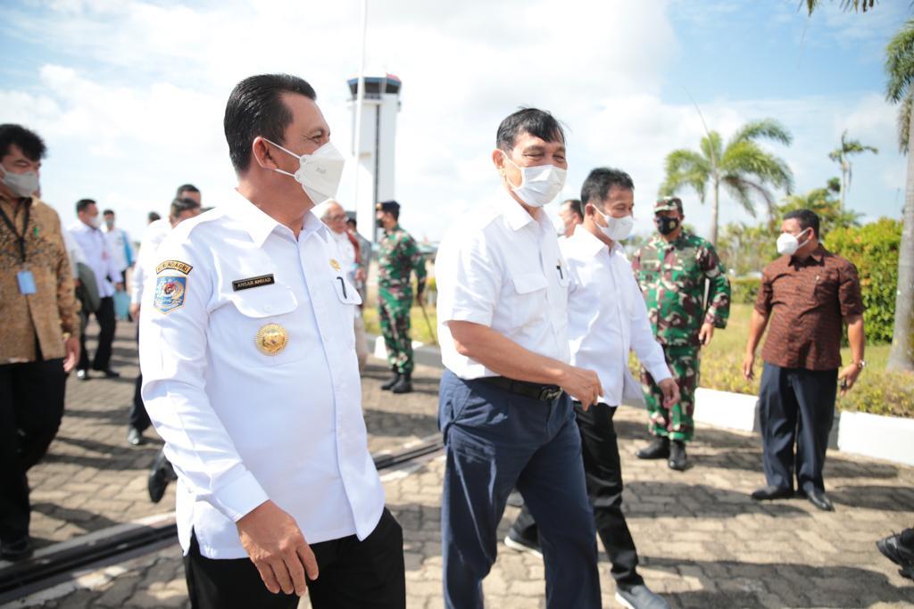 Sambut Menko Luhut, Gubernur Ansar Ahmad Paparkan Tentang Progres Terkait Percepatan Pemulihan Ekonomi di Kepri