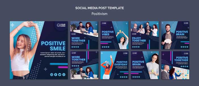 Instagram Posts Collection PSD Template