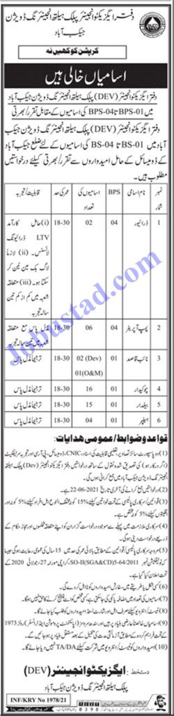 Public Health Engineering Department Jobs in Sindh 2021 Latest Advertisement - PHED Jobs 2021 in Pakistan