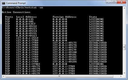netstat command