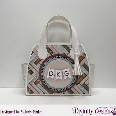 Divinity Designs Custom Dies: Timeless Tote, Timeless Tote Layers, Alphabet Flags, Double Stitched Circles, Fancy Circles, Paper Collection: Romantic Roses