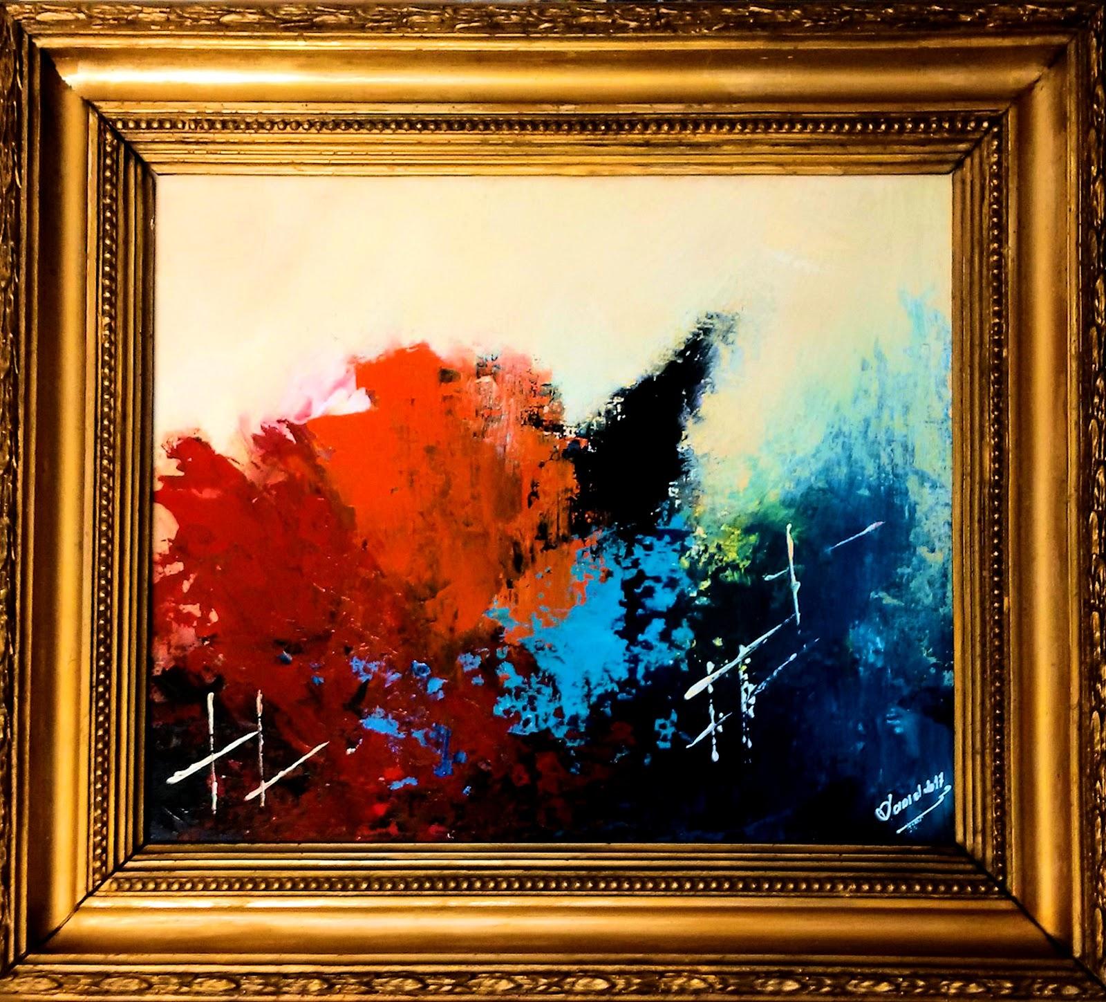 MIS CUADROS (Pintura abstracta): LA OBRA Y EL MARCO