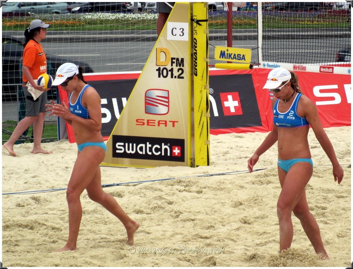 Maria Tsiartsiani & Vicky Arvaniti at SWATCH FIVB Beach Volleyball World Tour