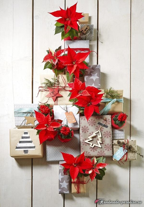 Пуансеттия в новогоднем и рождественском интерьере (4)
