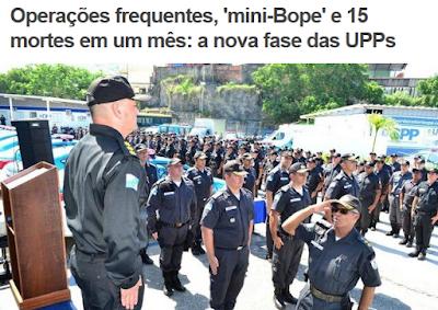 Capa do Extra com imagens do Bope
