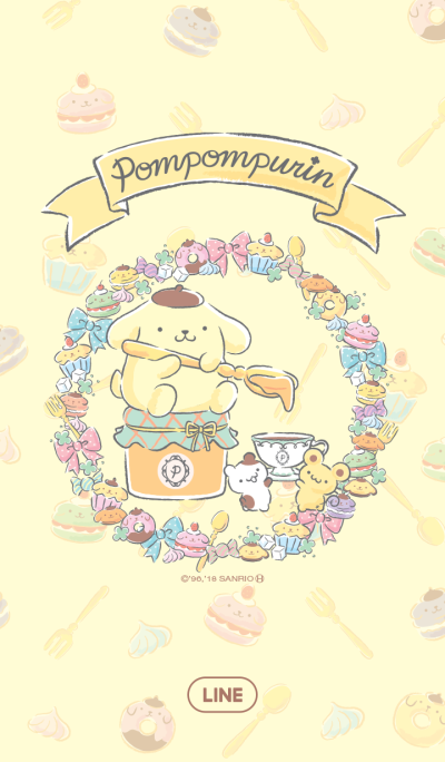 Pompompurin's Tea Party