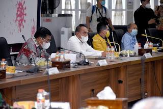 Rapat Persiapan Pilkada Serentak 2020 di Sumut, Gubernur Yakinkan DPR Soal Kondusifitas Rakyat