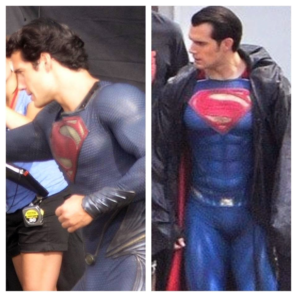 Comparison of Superman's suit costume from Man of Steel and Batman v Superman: Dawn of Justice.