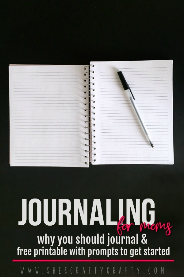 Journaling for moms- why you should journal and free printable journaling prompts to get you started