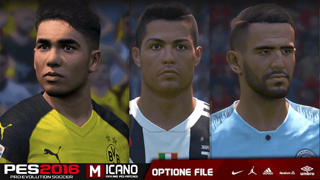 Option File Update for Next Season Patch PES 2016