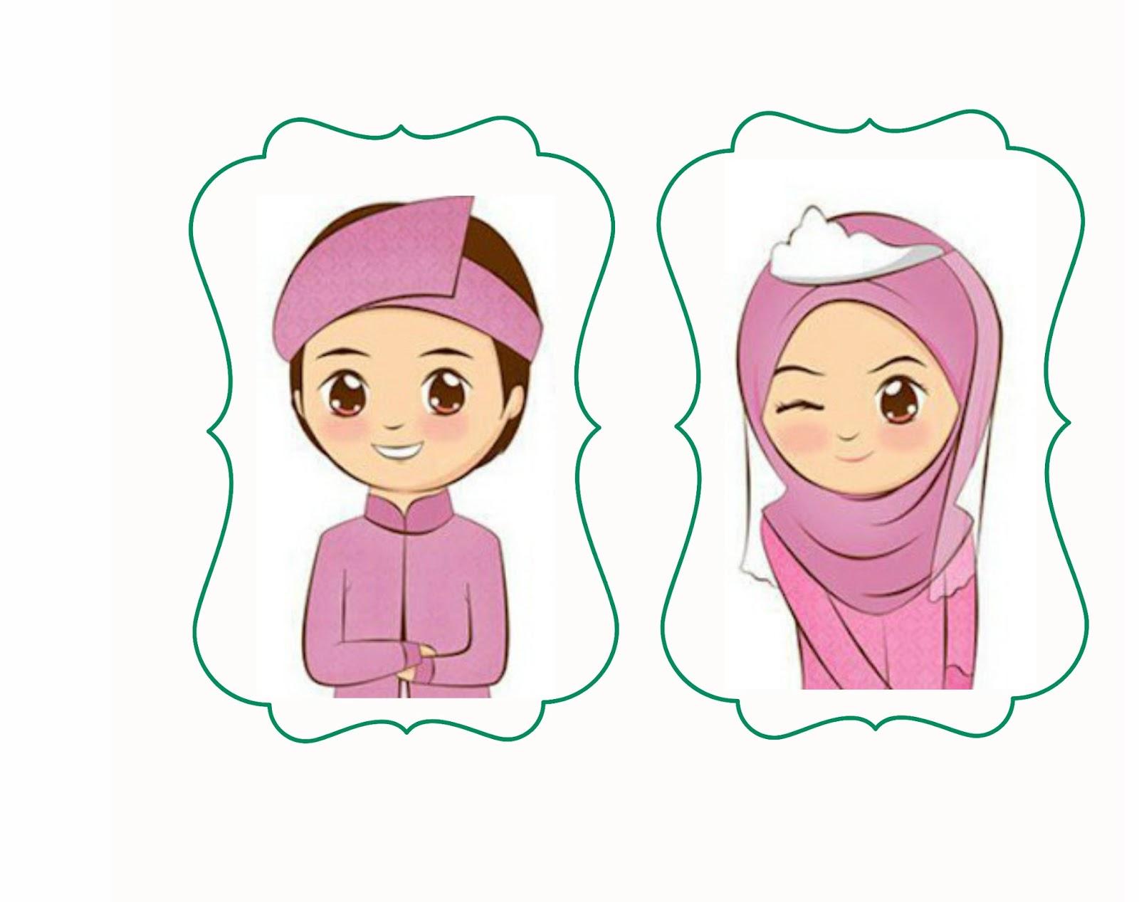 47 Gambar Kartun Muslimah Pengantin Info Terpopuler