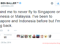 Ben Baller Hina Indonesia Terkait AirAsia