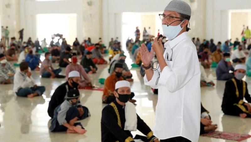Warga Apresiasi Penerapan Protokol Covid-19 di Masjid Sultan