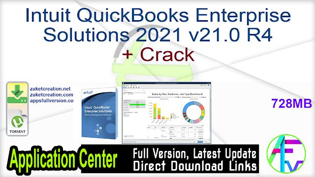 Intuit QuickBooks Enterprise Solutions 2021 v21.0 R4 + Crack