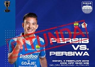Stadion GBLA Rusak, Laga Persib vs Persiwa Ditunda