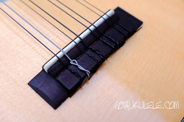 Noah 8 string concert ukulele brige