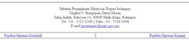 Rasmi - Jawatan Kosong di Jabatan Perangkaan Negeri Selangor Terkini 2019