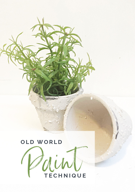 old world paint technique pinterest pin with overlay