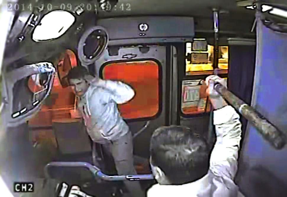 Watch Genius Driver Trap Snatcher on Bus Automatic Door