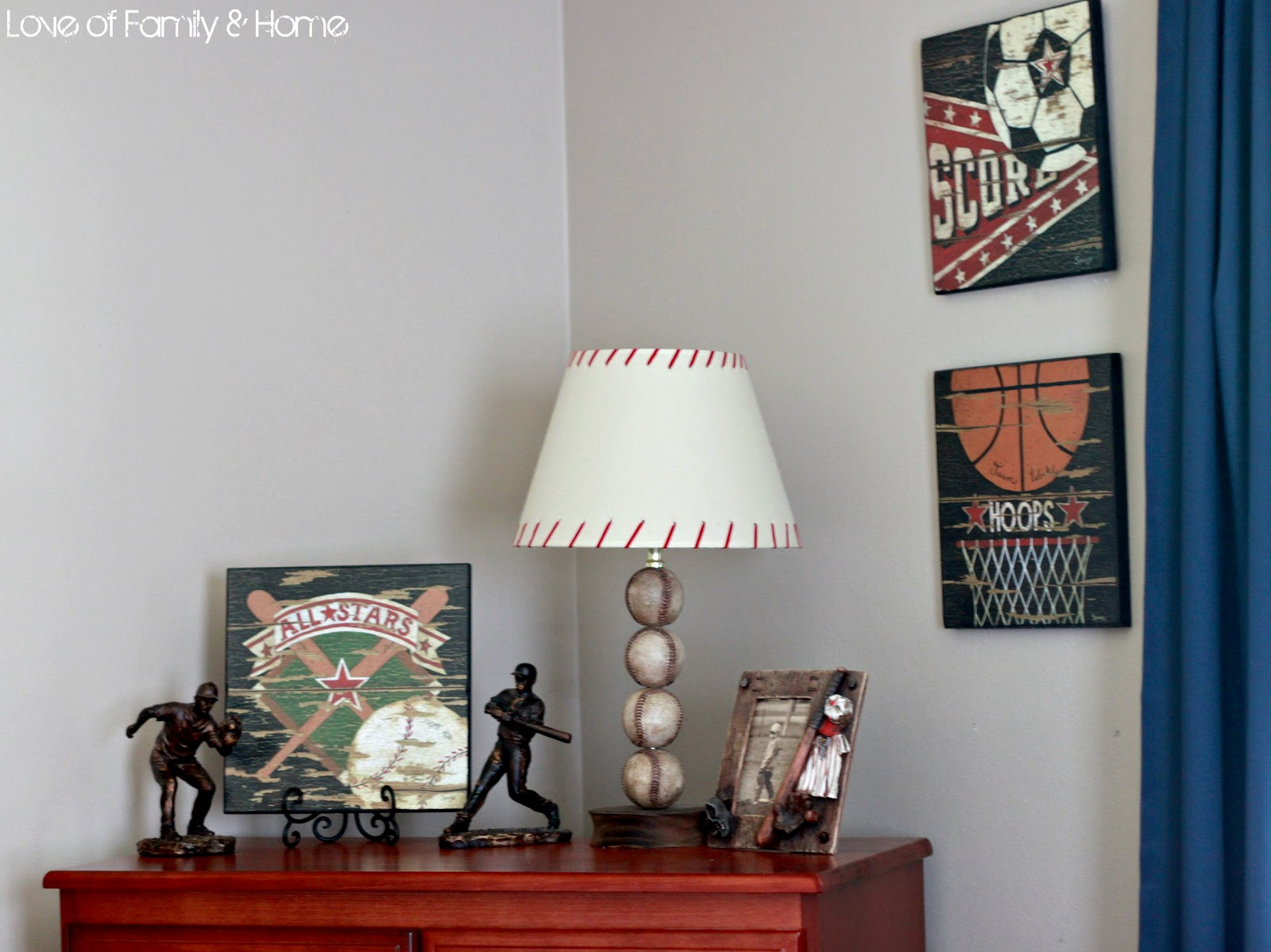 Boys Bedroom Lamp Parker 39s Room Vintage Baseball Boys 39 Bedroom Love