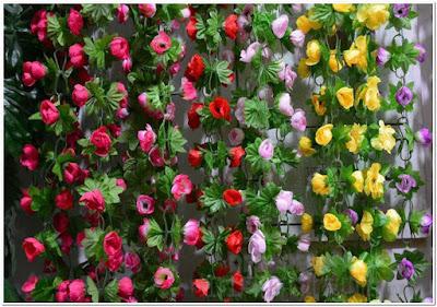 Bunga Plastik Untuk Dekorasi Dinding