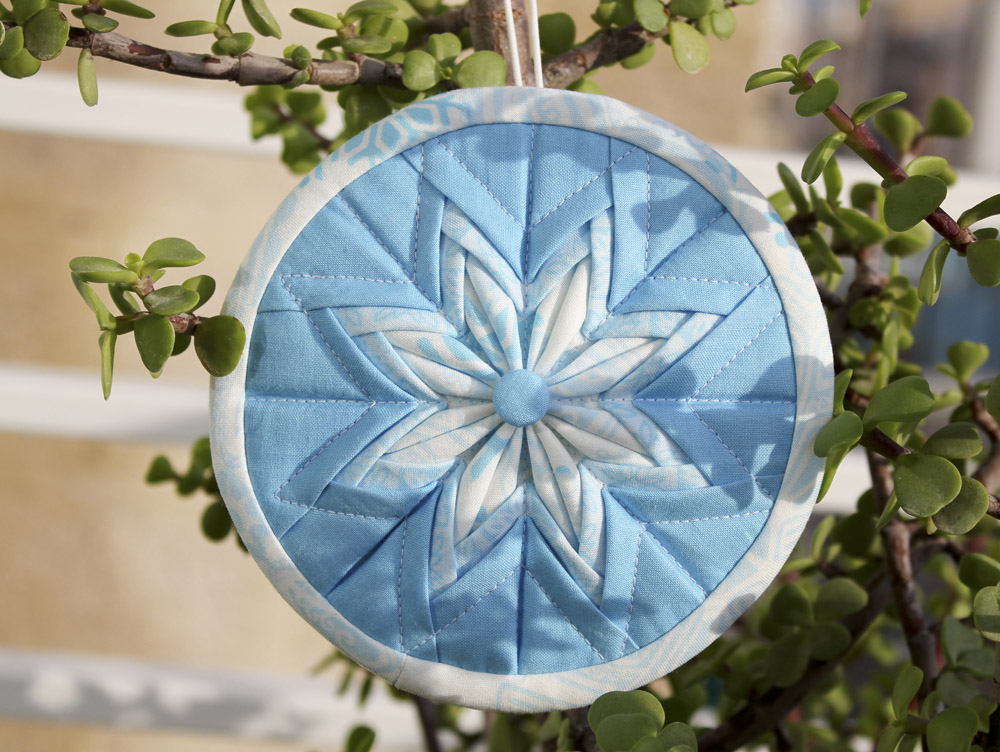 Folded Fabric Star Christmas Ornament Pattern