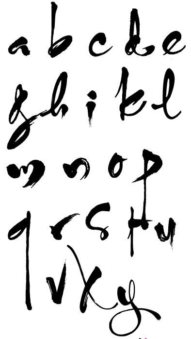 Bảng chữ cái thư pháp cho người mới học