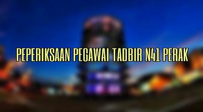 Contoh Soalan Peperiksaan Pegawai Tadbir N41 Perak (Setiausaha Majlis)