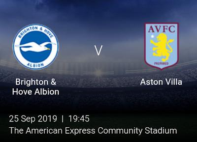 LIVE MATCH: Brighton Vs Aston Villa League Cup 25/09/2019