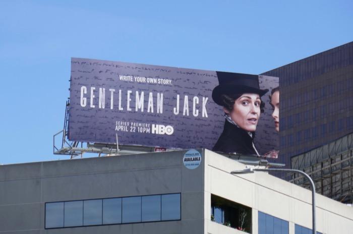 Gentleman Jack HBO series billboard
