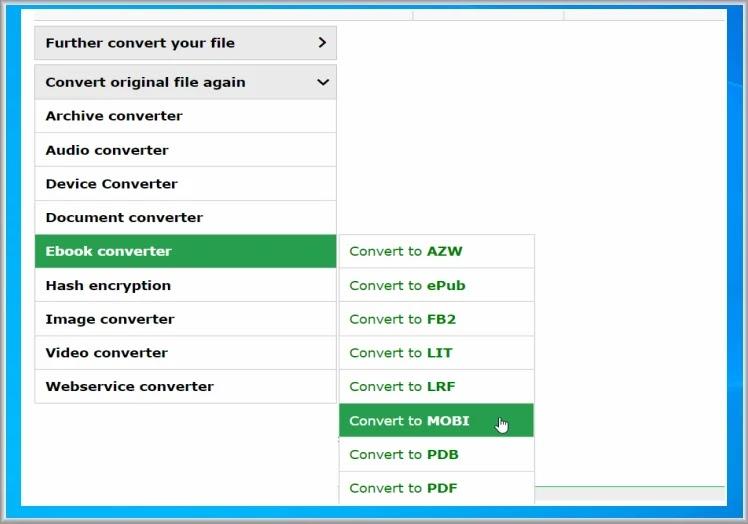 Online  E-Book Convert : Online μετατροπή  E-Books σε όποια μορφή  επιθυμείτε