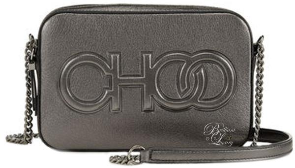optimized pins Brilliant Luxury ♦ Jimmy Choo Balti Anthracite Metallic Nappa Embossed Choo Logo Mini Bag #brilliantluxury
