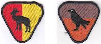 Insignias de patrullas scout. Corpo Nacional de Escoteiros de Portugal
