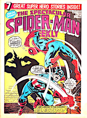 Spectacular Spider-Man Weekly #343, Captain America and Electro