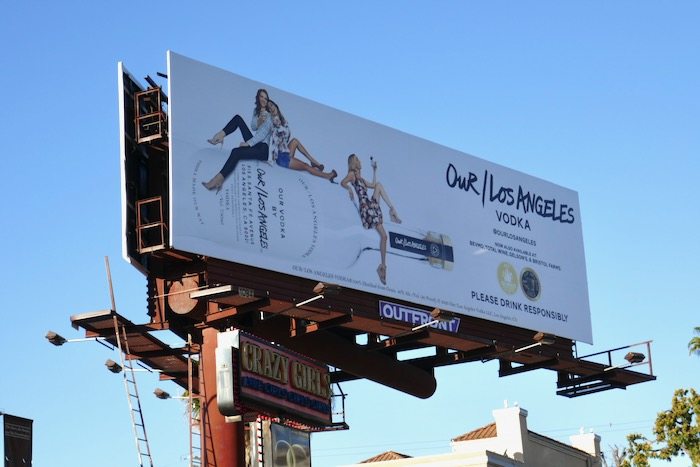 Our Los Angeles Vodka billboard