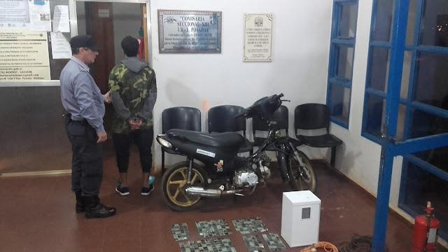 POSADAS :  Policías recuperaron una moto e insumos robados en dos hechos