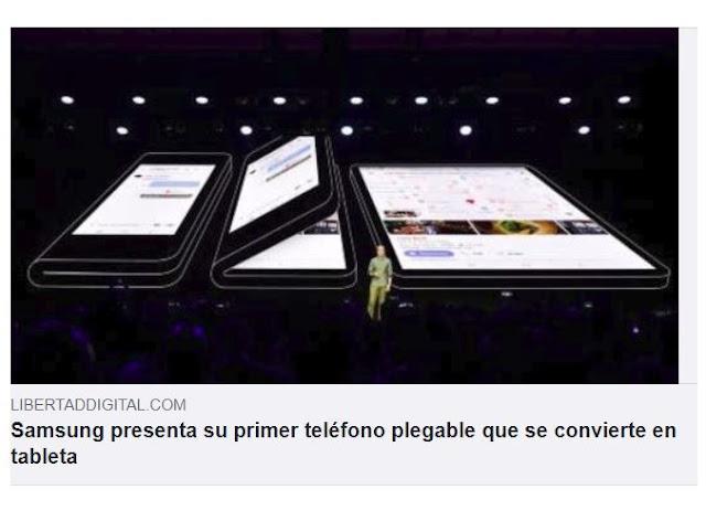 Samsung presenta su primer teléfono plegable que se convierte en tableta