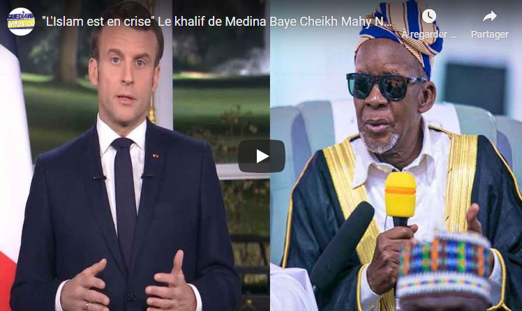 VIDEO - Attaques contre l'islam : Le Khalife de Médina Baye (Sénégal) tacle virilement Macron
