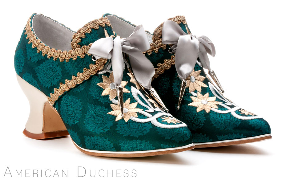 "American Duchess ""Royale"" custom made 18th century shoes for Whoopi Goldberg"