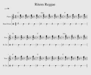 gambar notasi ritem reggae not balok