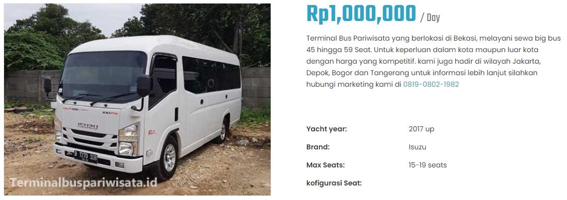 Sewa Bus Pariwisata Dengan Banyak Pilihan Type Seat