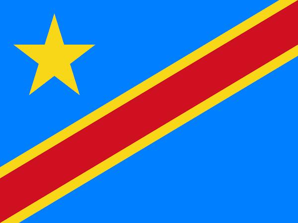 Logo Gambar Bendera Negara RD Kongo PNG JPG ukuran 600 px