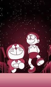 gambar Doraemon dan Nobita hitam putih