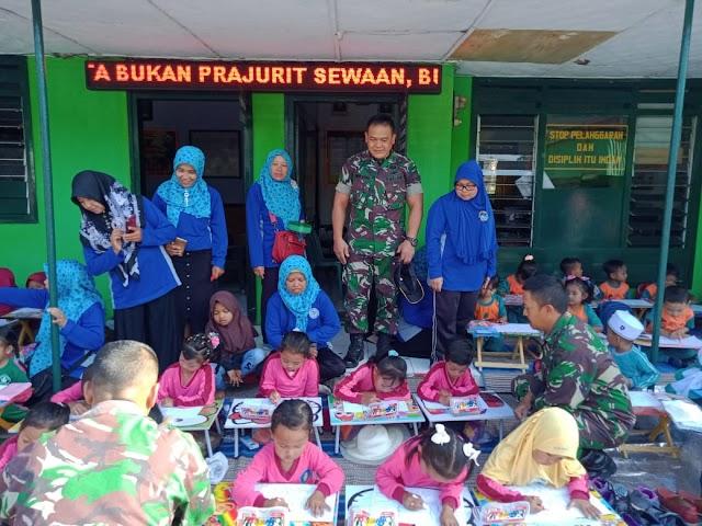 Tingkatkan Kreatifitas Anak, Koramil 0821/14 Pronojiwo Gelar Lomba Mewarna