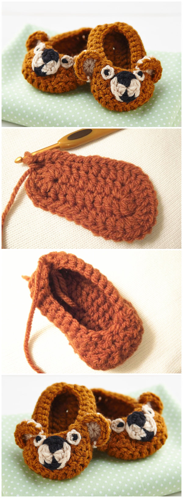 How To Make Crochet Baby Booties
