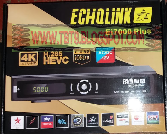 ECHOLINK EI7000 PLUS HD RECEIVER POWERVU TEN SPORTS OK NEW SOFTWARE JULY 2019