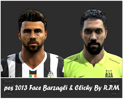 Pes 2013 Face Barzagli & Clichy By R.P.M