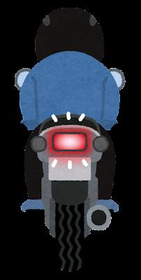 テールランプとウインカーのイラスト(バイク・ブレーキ)