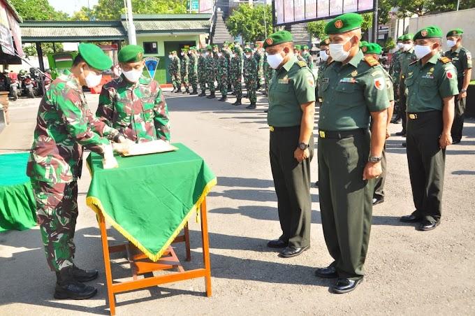 Pimpin Sertijab Dan Laporan Korps MPP Dandim 0808/Blitar Jangan Berhenti Ciptakan Sesuatu Bermanfaat Untuk Semua Orang