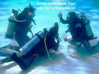 belajar diving di pantai cemara besar karimun jawa